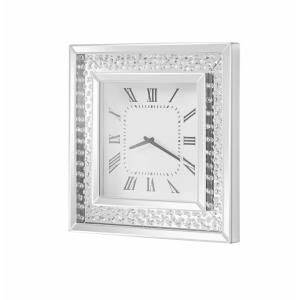 "Sparkle - 20"" Contemporary Crystal Square Wall clock"
