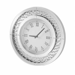 "Sparkle - 20"" Contemporary Crystal Round Wall clock"