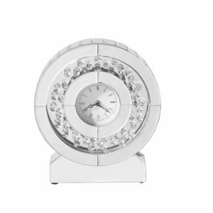 "Sparkle - 10.5"" Contemporary Crystal Round Wall clock"
