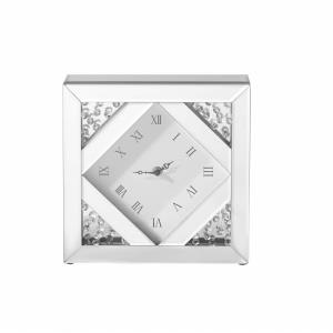 "Sparkle - 10"" Contemporary Crystal Square Wall clock"
