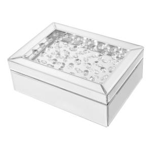 "Sparkle - 10"" Contemporary Crystal Jewelry box"