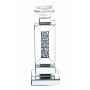 "Modern - 13.5"" Crystal Candleholder"