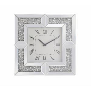 "Modern - 20"" Square Crystal Wall Clock"