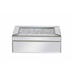 "Modern - 10"" Rectangle Crystal Jewelry Box"
