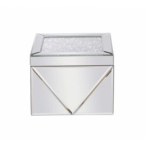 "Modern - 8"" Square Crystal Jewelry Box"