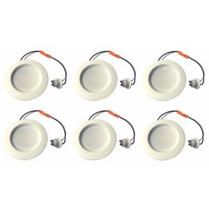 "Jaron - 4.04"" 8W 2700K 1 LED 38- Beam Angle Recessed Retrofit (Pack of 6)"