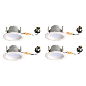 "Gaige - 5.08"" 9W 2700K 1 LED 100- Beam Angle Recessed Retrofit (Pack of 4)"