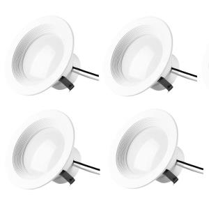 "Gaige - 5.07"" 12W 2700K 1 LED 100- Beam Angle Recessed Retrofit (Pack of 4)"