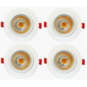 "4.9"" 11W 1 LED 38- Beam Angle Recessed Slim Light (Pack of 4)"