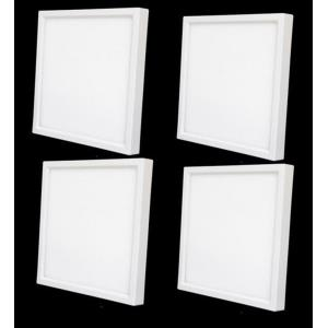 "4.3"" 10W 3000K 1 LED 120- Beam Angle Square Recessed Disk Light (Pack of 4)"