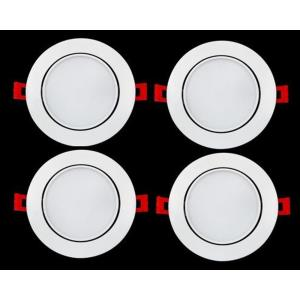 """6.9"""" 12W 5000K 1 LED 120- Beam Angle Recessed Round Gimbal Light (Pack of 4)"""
