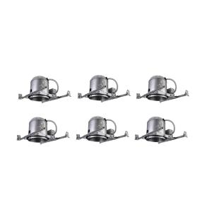 """5"""" 120V 50W E26 NON-IC New Construction Housing (Pack of 6)"""