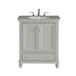 "Otto - 30"" 1 Drawer Rectangle Single Bathroom Vanity Sink Set"