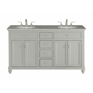"Otto - 60"" 4 Drawer Double Rectangle Bathroom Vanity Sink Set"