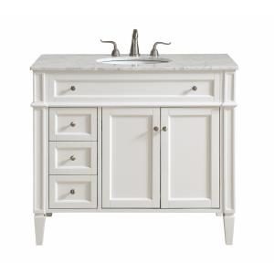 "Park Avenue - 40"" 3 Drawer Rectangle Single Bathroom Vanity Sink Set"