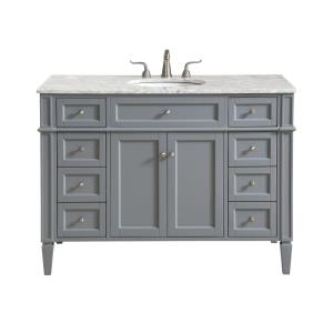 "Park Avenue - 48"" 8 Drawer Rectangle Single Bathroom Vanity Sink Set"