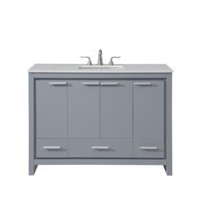"Filipo - 48"" 3 Drawer Rectangle Single Bathroom Vanity Sink Set"