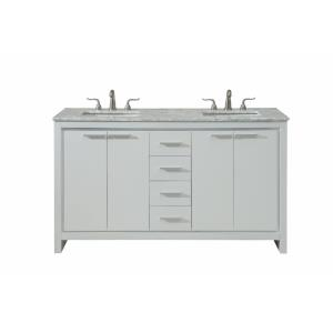 "Filipo - 60"" Double Bathroom Vanity Set"