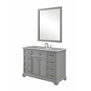 "Americana - 48"" 8 Drawer Rectangle Single Bathroom Vanity Sink Set"