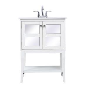 "Mason - 24"" Single Bathroom Mirrored Vanity Set"