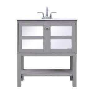 "Mason - 30"" Single Bathroom Mirrored Vanity Set"