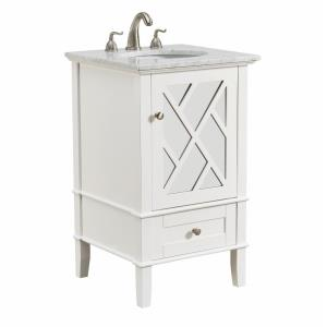 "Luxe - 21"" 1 Drawer Rectangle Single Bathroom Vanity Sink Set"