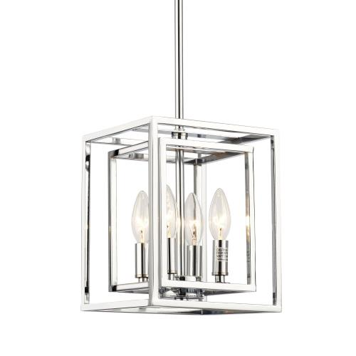elight DESIGN ED884124CH Industrial - Four Light Square Pendant
