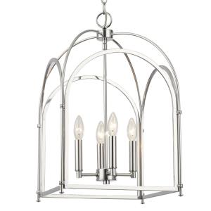 "Industrial - 14"" Four Light Arched Pendant"