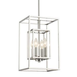 Industrial - Four Light Rectangular Pendant