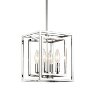 Industrial - Four Light Square Pendant