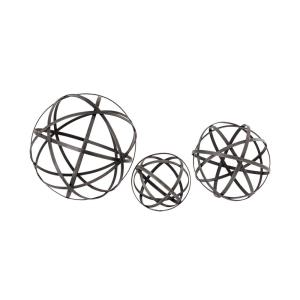 "World - 13"" Spheres (Set of 3)"