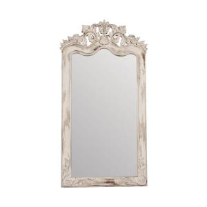Crossroads Florentine - Traditional Style w/ FrenchCountry inspirations - Mahogany Solid Wood and Glass Floor Mirror - 70 Inches tall 37 Inches wide