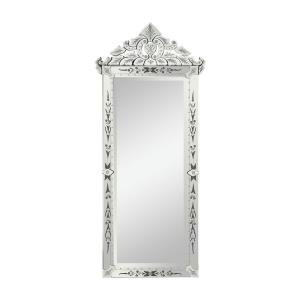 Isola di Vetro - Transitional Style w/ FrenchCountry inspirations - Glass Venetian Mirror - 70 Inches tall 32 Inches wide