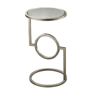 Mirrored Top - 22 Inch Side Table