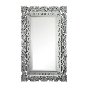 Bardwell - Traditional Style w/ Coastal/Beach inspirations - Glass Venetian Mirror - 50 Inches tall 31 Inches wide