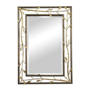 "Rhyl - 40"" Metal Branch Framed Mirror"