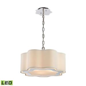 Villoy - Modern/Contemporary Style w/ Luxe/Glam inspirations - Metal 9.5W 3 LED Drum Pendant - 7 Inches tall 18 Inches wide