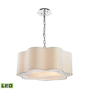 Villoy - Modern/Contemporary Style w/ Luxe/Glam inspirations - Metal 9.5W 6 LED Drum Pendant - 10 Inches tall 24 Inches wide