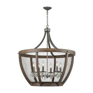 Renaissance Invention - Six Light Wide Basket Pendant