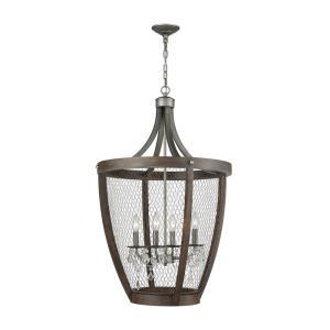 Renaissance Invention - Four Light Long Basket Pendant