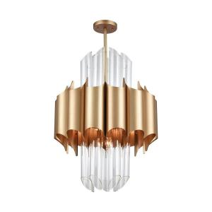 Cold Rolled - Modern/Contemporary Style w/ Luxe/Glam inspirations - Glass and Metal 20 Light Chandelier - 33 Inches tall 24 Inches wide
