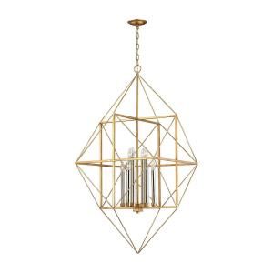 Connexions - Modern/Contemporary Style w/ Luxe/Glam inspirations - Metal 8 Light Pendant - 51 Inches tall 24 Inches wide