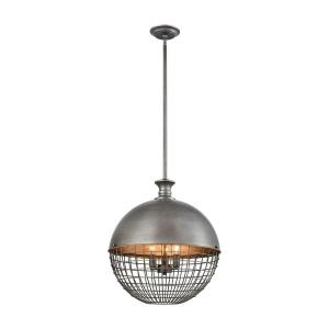 Juggernaut - Transitional Style w/ ModernFarmhouse inspirations - Metal 3 Light Large Pendant - 20 Inches tall 18 Inches wide
