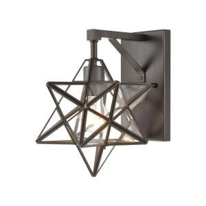"""Moravian Star - 9"""" One Light Wall Sconce"""