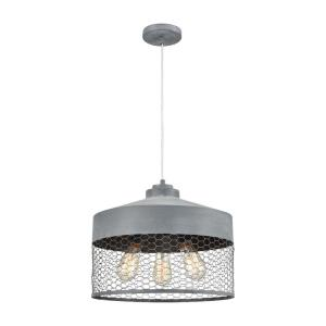 Darkhorse - Transitional Style w/ ModernFarmhouse inspirations - Metal 3 Light Pendant - 12 Inches tall 16 Inches wide