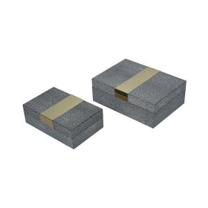 Coral - 9 Inch Decorative Boxe (Set of 2)