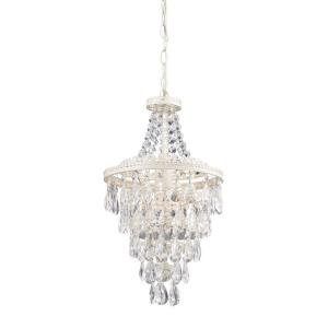 Transitional Style w/ Luxe/Glam inspirations - Canvas and Wood 1 Light Mini Pendant - 19 Inches tall 11 Inches wide