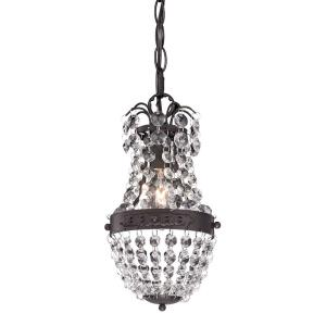 Camborne - Transitional Style w/ Luxe/Glam inspirations - Crystal and Metal 1 Light Mini Pendant - 9 Inches tall 5 Inches wide