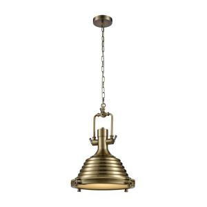 Centurion - Transitional Style w/ ModernFarmhouse inspirations - Metal 1 Light Pendant - 17 Inches tall 16 Inches wide