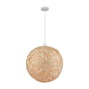 Sirocco - Modern/Contemporary Style w/ Coastal/Beach inspirations - Bamboo and Metal 1 Light Pendant - 20 Inches tall 20 Inches wide